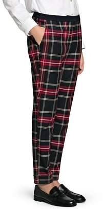 MANGO Outlet Plaid Tapered Trousers