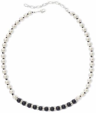 VIESTE ROSA Vieste Jet Black Stone & Simulated Pearl Necklace