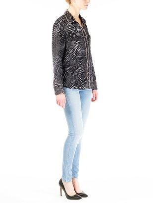 Isabella Collection Piamita Spotted Button Up