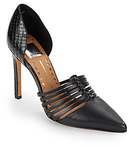 Dolce Vita Strappy Leather D'Orsay Pumps