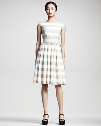 Dolce & Gabbana Full-Skirted Striped Dress