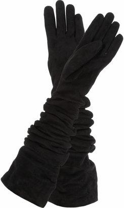 Yves Saint Laurent Long suede gloves