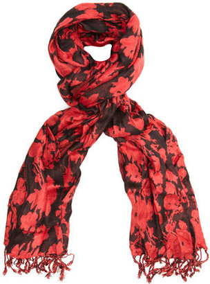 Dorothy Perkins Red silhoutte floral scarf