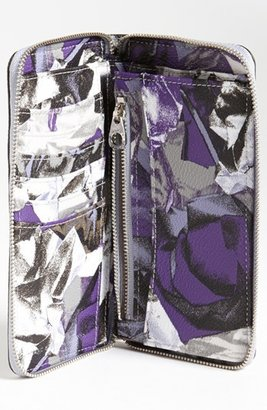 Marc by Marc Jacobs 'Steel Garden - Medium' Zip Around Wallet