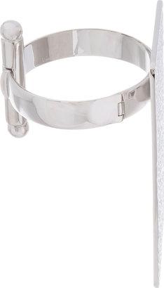 Maison Martin Margiela Silver Hammered Plate Bracelet