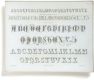 STUDY Antique Font Plate