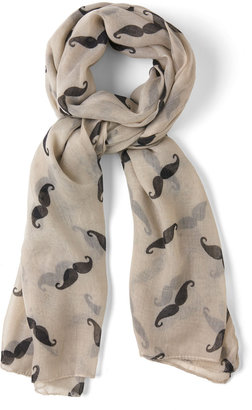 Mustachioed to Joy Scarf in Ivory