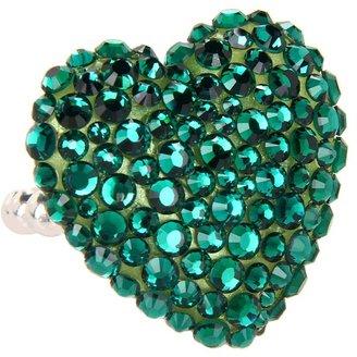 Tarina Tarantino Emerald Pretty Limited Edition Heart Ring (Emerald) - Jewelry