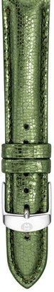 Michele 16mm Metallic Leather Watch Strap