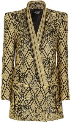 Balmain Metallic jacquard jacket