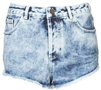 Topshop Moto 'Holly' Acid Wash Denim Shorts