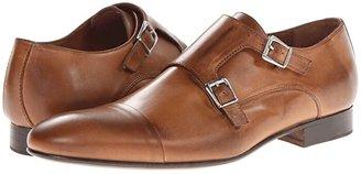 Massimo Matteo Dbl Monk Cap Toe (Black) Men's Slip on Shoes