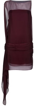 Cymbeline Le Soir ASYMMETRICAL SEMI-SHEER DRESS