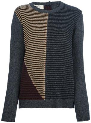Marni Edition intarsia stripe sweater