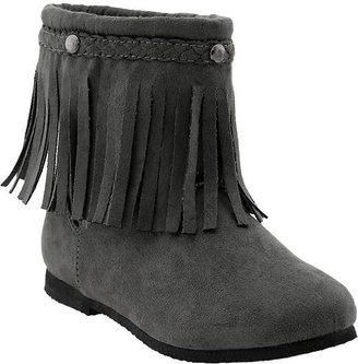 Old Navy Girls Sueded-Moccasin Short Boots
