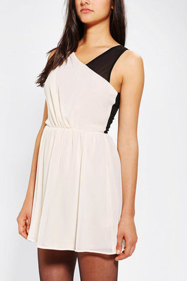 Urban Outfitters Pins And Needles Chiffon Colorblock Dress