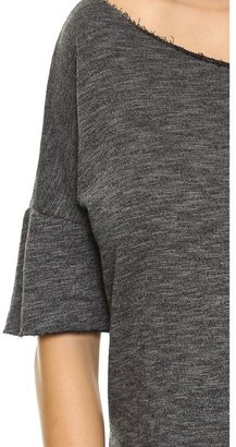 So Low SOLOW Hi-Low Pullover with Raw Edges