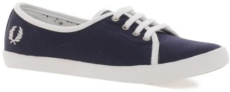 Fred Perry Bell Canvas Navy Sneaker Shoes