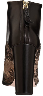 Nina Ricci Lace Inset Ankle Boot