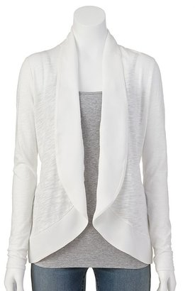Elle TM mixed-media cardigan - women's