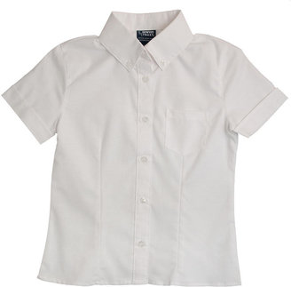 D+art's French Toast Short Sleeve Oxford Blouse With Darts - White ( Size 10)