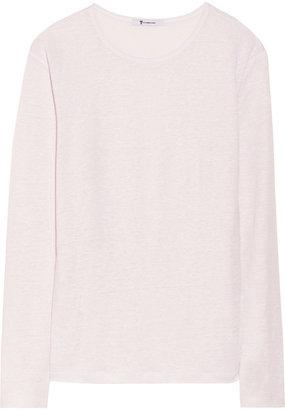 Alexander Wang Slub linen and silk-blend top