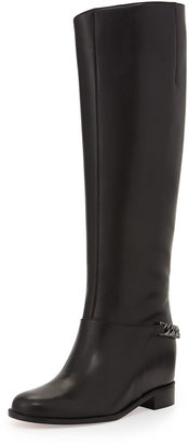 Christian Louboutin Cate Chain-Trim Red Sole Knee Boot