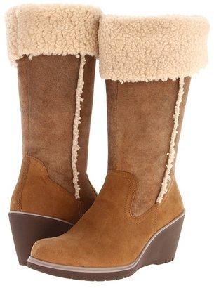 Ecco Adora Faux Fur Boot (Teak/Sepia/Sand) - Footwear