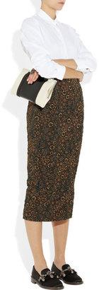 Marni Embellished satin loafers