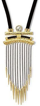 JCPenney Aris by Treska Two-Tone Chains & Spikes Necklace