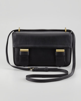 Reed Krakoff Academy Leather Crossbody Bag, Black