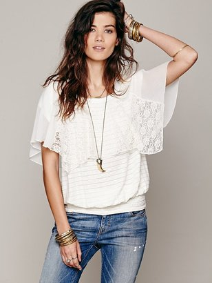 Free People Cotton Candy Dreams Top