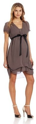 Jules & Jim Women's Maternity Gathered Dress With Camisole