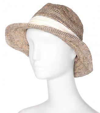 Hat Attack Raffia fedora with sequin trim