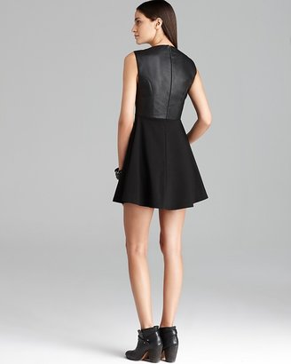 French Connection Dress - Pleather Feather Ruth