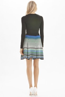 Torn By Ronny Kobo Mosaic Jacquard Anabella Skirt in Greco