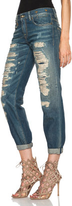 R 13 Super Destroyed Relaxed Skinny Jean