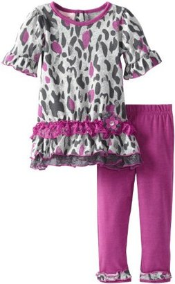 Little Lass Baby-Girls Infant 2 Piece Ruffle Tunic Hacci Legging Set