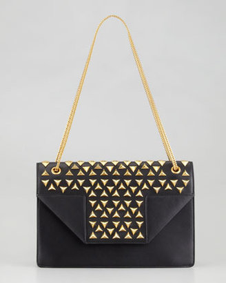 Borsa Saint Laurent Betty Studded Chain Shoulder Bag, Black