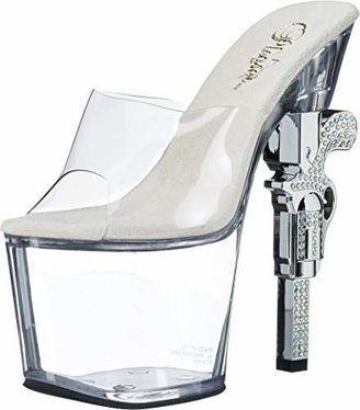 Pleaser USA Women's Revolver-712 Sandal