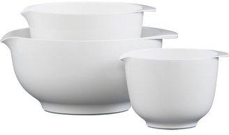 "Crate & Barrel 3-Piece Nonslip 10""-13.25"" Nesting Mixing Bowl Set"