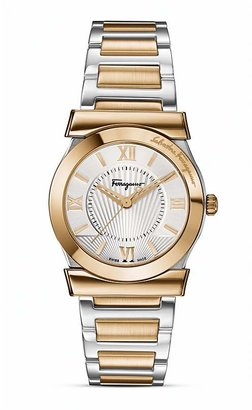 Salvatore Ferragamo Vega Silver Sunray Dial Watch, 32mm
