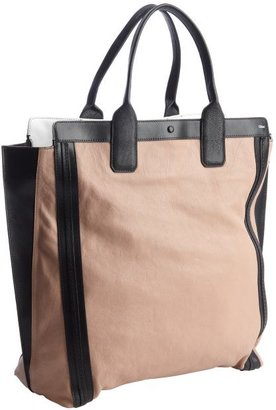Chloé tamaris pink and black leather shopper tote