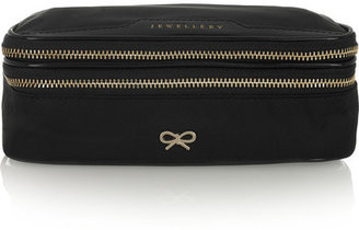 Anya Hindmarch Patent Leather-trimmed Jewelry Case - Black