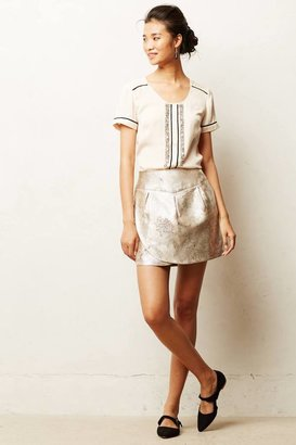 Anthropologie Frosted Tulip Mini Skirt