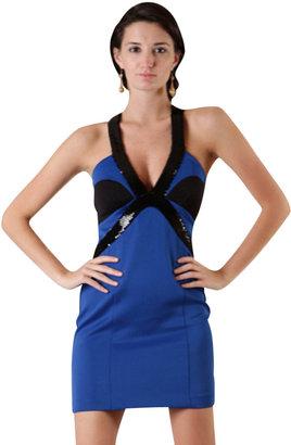 Tcec Royal Blue and Black Dress
