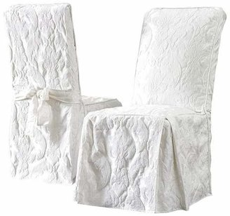 Dining Room Chair Slipcover Sf36153, Surefit Round Back Dining Room Chair Slipcover