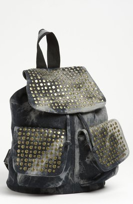 De L'avion Studded Acid Wash Backpack