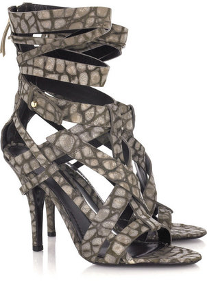 Givenchy Leather crocodile-print sandals