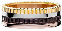 Boucheron Classic Quatre 18k Four-Color Gold Small Band Ring, Size 55